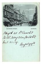 Buchanan Street - Glasgow Photo Postcard 1899