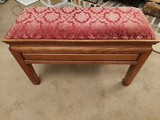 More details for piano bench with upholstered seat and storage inside