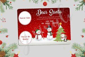 Personalised Christmas Eve Santa Treat Board Place Mats Xmas Gift Present #2