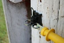 10pc Wood Post Electric Fence Gate Hook Heavy Duty Eyelet Set w/ Post Insulators