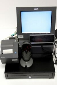 IBM 6 IN 1 System Touchscreen-Monitor+PC Scanner Display Printer
