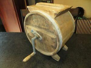 "Antique ""New Style White Cedar Cylinder Barrel (Butter) Churn"", 3 Gallon"