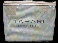 TAHARI DUVET COVER & SHAM TWIN Kids PASTEL BUTTERFLY 2 pc SET COTTON NEW