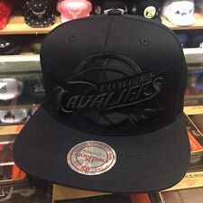 Mitchell & Ness Cleveland Cavaliers Snapback Hat All Black/BLACK Basketball Logo
