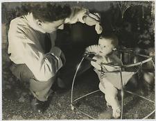 Père et fils Vintage silver print Tirage argentique  22x28  Circa 1961