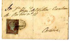 """Sobre de España Isabel II 1855 nº 40 """" Parrilla negra """""""