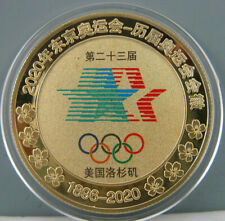 1984 Los Angeles Olympic Commemorate Gold Colour Badge Coin