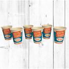 1950s Lot of 6 White Tower Hamburger Restaurant 8oz Drink Mira-Glaze Dixie Cups