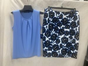 """KASPER SKIRT/ SIZE 10/LENGTH 25""""/NEW WITH Tag/RETAIL$69/LINED/TANK NOT INCLUDED"""