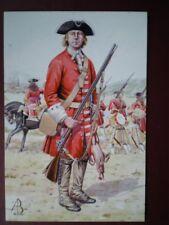 POSTCARD DERBY'S REGIMENT BLENHEIM 1704 LATER BEDS & HERTFORDSHIRE REGT