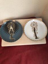 Set Of 2 Erte Franklin Mint Starstruck Plates Ooak Proofs Porcelain
