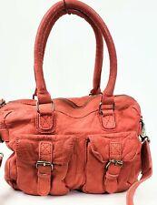 NWT Sundance Cowboy's Bag, Red Distressed Leather Hobo Crossbody Bag, Medium
