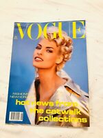 British VOGUE Magazine August 1991 8/1991 Cover: Linda Evangelista. Exc/Like New