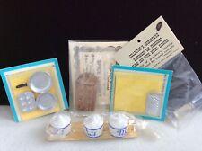 vintage dollhouse miniature kitchen items lot /old store stock