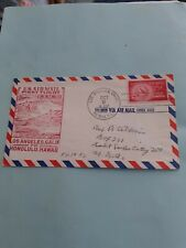 COVER 1ST FLIGHT US AIR MAIL LOS ANGELES HONOLULU FAM 30 9 OCT 1950 red