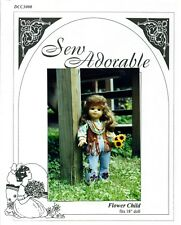 "Sew Adorable Doll Clothes Pattern, fits 18"" American Girl, Flower Child"