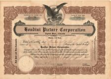 Houdini Picture Corporation - handsigned by the magician 1921