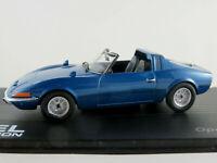 IXO #45 Opel Aero GT (1969) in blaumetallic 1:43 NEU/PC-Vitrine