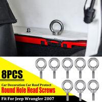 8Pcs / Set Auto Tetto Protezione Rotondo Foro Testa Viti per Jeep Wrangler 2007+