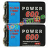 2x Durable 9V 9 Volt 600mAh Power Black Ni-Mh Rechargeable Battery PPS block