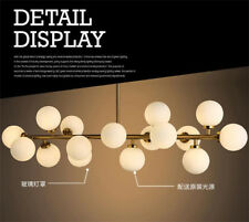 Modern 16 Light LED Chandelier Pendant Round Glass Ceiling lamp Fixture