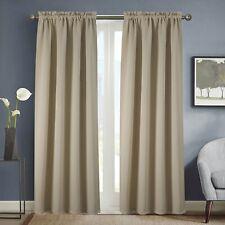 Olivia Gray Twilight Solid Blackout 54 x 90 in. Rod Pocket Single Curtain Panel
