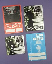 Alice Cooper - Unused Tour Passes - Theatre of Death, The Eyes of Alice Cooper