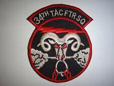 Vietnam War Patch Us 34th Tactical Fighter Squadron Rude Ram, Korat Afb Thailand