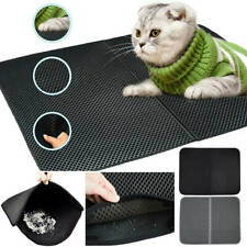 Large Double-layer Cat Litter Tray Mat Kitten Scatter Control Paw Floor Cleaning