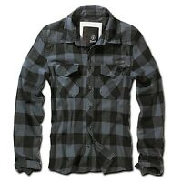 Brandit - Checkshirt black grey Herren Hemd black grey Karo schwarz grau