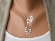 Leaf Silver Pendant Necklace Link  Chain Stunning Jewelry Timeless  Gift