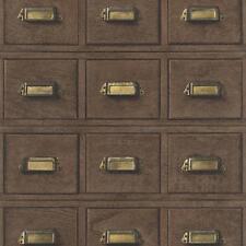 Rasch Bois Armoire Tiroirs Motif Papier Peint Vintage Réaliste Effet Faux
