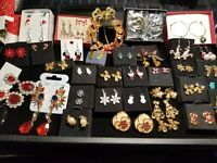 124pc Lot Vintage & Now Avon Christmas Holiday Jewelry  Wounded Warrior Project