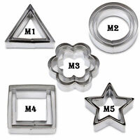 Kinds Cookie Mold Set - 3in1 Stainless Steel Biscuit Fondant DIY Cake Cutters