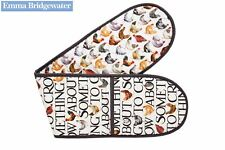 Emma Bridgewater Cotton Double Oven Glove Mitt Hen & Toast Design Chicken Hens