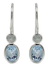 925 Pure Silver Beautiful BLUE TOPAZ Gemstone Dangle Earring Fashion Jewelry
