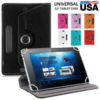"""Universal Leather Flip folio Stand Case Cover For 7"""" 8"""" 9"""" 10"""" Android Tablet PC"""
