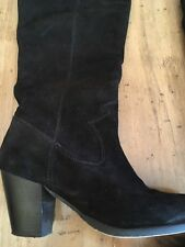 Faith Black Suede Western Style Boot Size 5