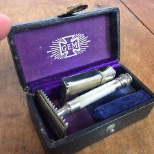 Mens Vintage US Army Shaving Safety Razor WWI WWII GEM Gillette Blades Military
