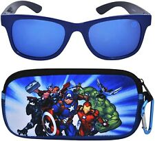 CAPTAIN AMERICA AVENGERS Boys 100% UV Shatter Resistant Sunglasses&Soft Case Set