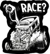 RACE OLD SCHOOL RAT FINK RAT ROD HOT ROD MUSCLE CAR VINTAGE PERFORMANCE STICKER