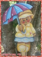 HP Wooden Yard Stake Gingerbread , Lawn Decoration, Yard Art , Summer, Woodcraft