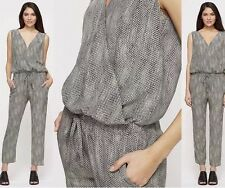L Eileen Fisher, Fisher Project Stone Sleeveless Silk Animal Print Jumpsuit NWT