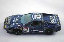Burago 1:43 Ferrari 308 GTB racing car en 32 SABA tv vidéo hifi Logo