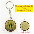 """Virgen De La Caridad del Cobre Ciondolo Nostra Signora della Carità Cuba 23/"""" seppia"""
