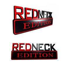New Redneck Edition Truck Boat Car Emblem Logo Decal Sign Red Neck Black