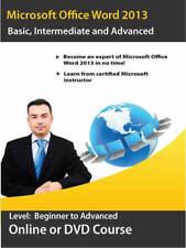 Learn Microsoft Word 2013 - DVD Training Course