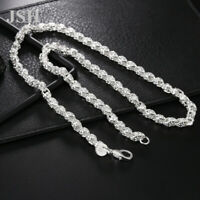 Hot sale wholesale 925 Silver wedding Necklace Jewelry charm women Men chain