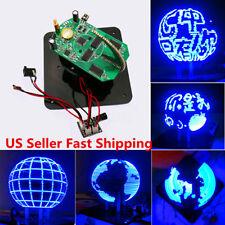 Spherical Rotating 56 LED POV Soldering Welding Train Electronic Clock Part Kit