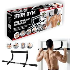Door way Pull Up Bar Mounted Heavy Duty Chin Fitness Strength Gym Power Training